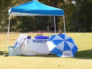 Homestar Tent on Hole 1