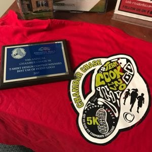 Chamber Chase 5 K Award for T-shirt Design