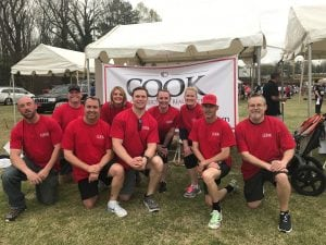 Members of Team Cook at the Chamber Chase