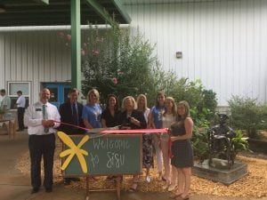 SiSu Executive Director Jamie Reynolds at recent Greater Hall Chamber of Commerce Ribbon Cutting for the New Branding for Sisu | Gainesville GA